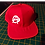 Anarchy Snapback Baseball Hat red