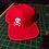 SkullnCrossbones Snapback Baseball Hat red