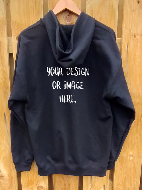 Design Your Own Zipped Hoody) image on rear)