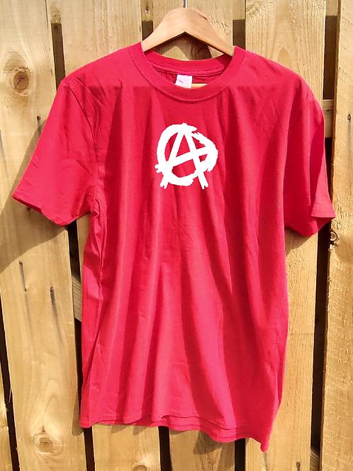 Anarchy Tee white logo