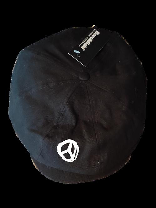 Peace Newsboy Cap white logo