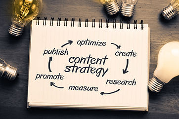 Content Strategy concept on notebook wit