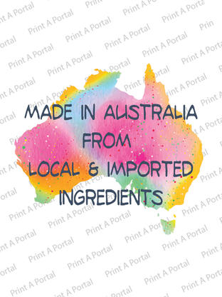 Made in australia with local and importe
