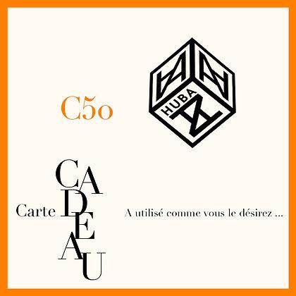 Carte Cardeau - C50
