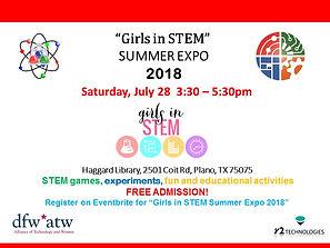 Girls in STEM Summer Expo Event Flyer .j