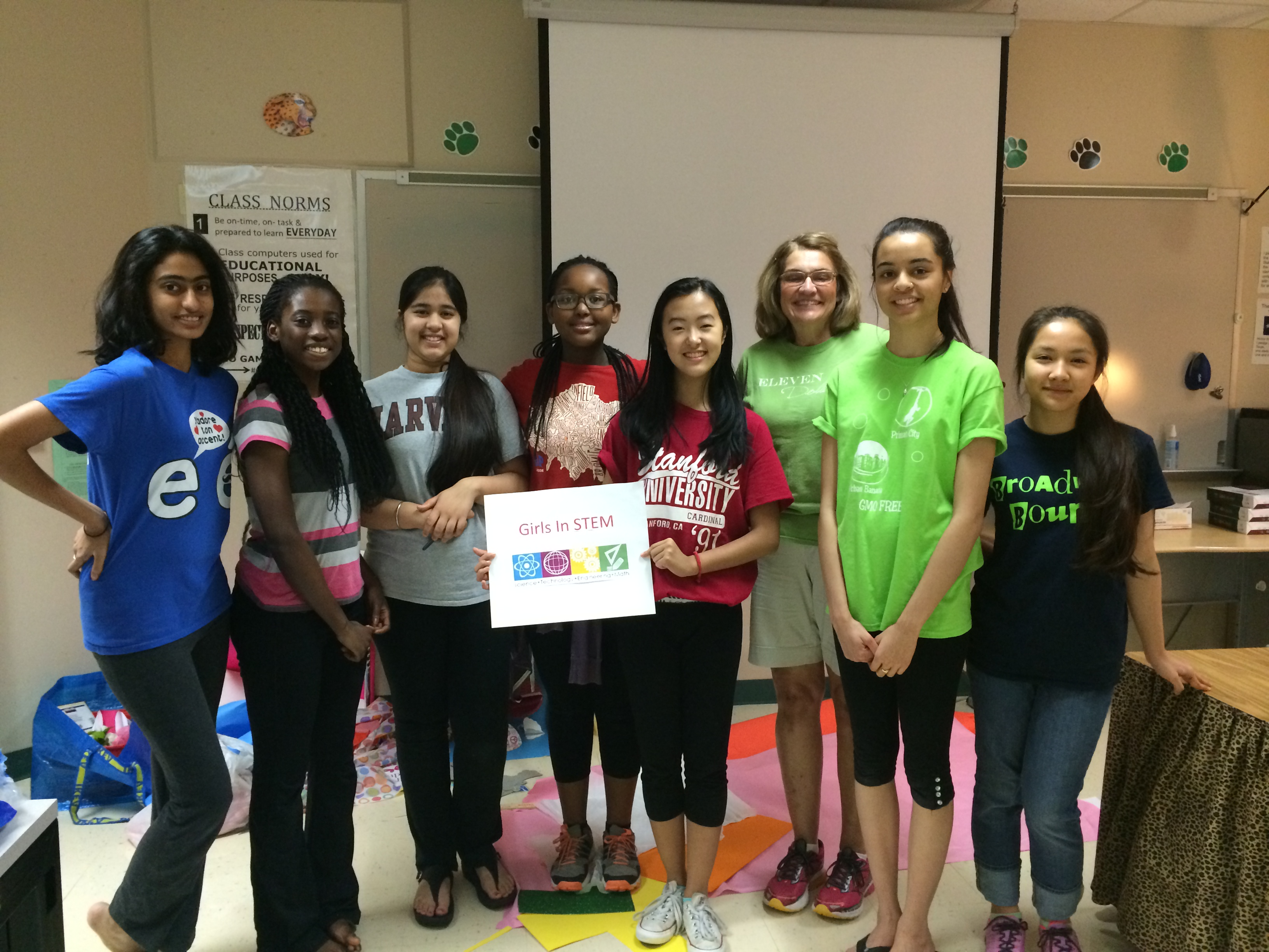Girls in STEM founding team 2015 picture