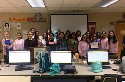 Girls in STEM Quardrupled in membership
