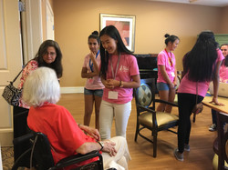 GirlsInSTEM Members Serving Seniors