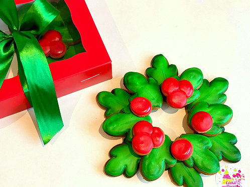 Christmas Wreath Cookie Platter