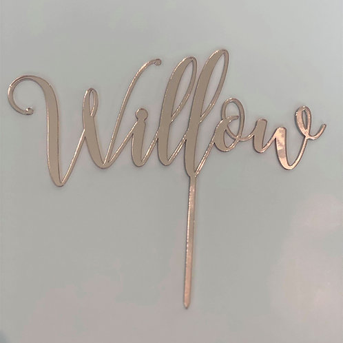 Cake Topper - Acrylic Custom Name/s