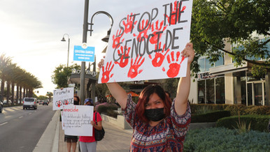 Activists protest Downey Mayor's support of Israel