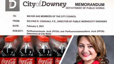 Downey City memo proves PFAS contamination, as Coca-Cola continues to export City water