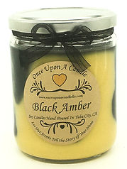 Once Upon a Candle Black Amber