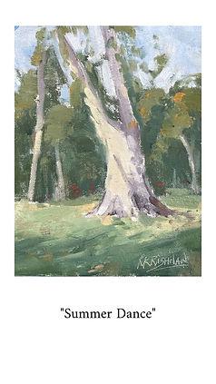 Eucalyptus tree at Villa Montalvo Gardens in Saratoga, CA. Original oil painting.