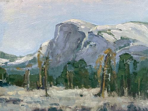 Half Dome   8x10, Oil on Canvas
