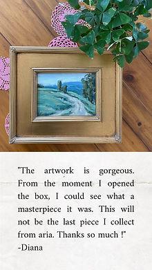 painting, vintage frame, ria krishnan fine art, review, home decor, farmhouse decor, art,