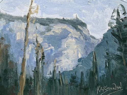 Yosemite Mountains | 6x8, Oil on Canvas