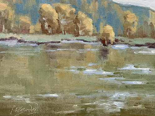 Fall in the Lake | 8x10, Oil on Canvas