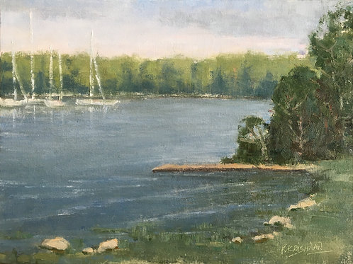Fishing Dock | 12x16, Oil on Canvas