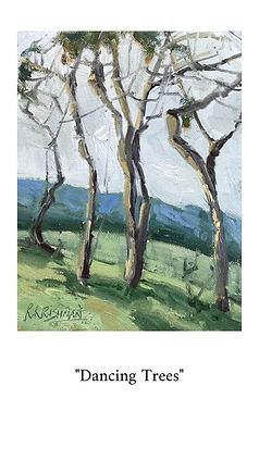 oil painting, ria krishnan fine art, home decor, california, trees, hillside, art for small spaces, paintings, original art