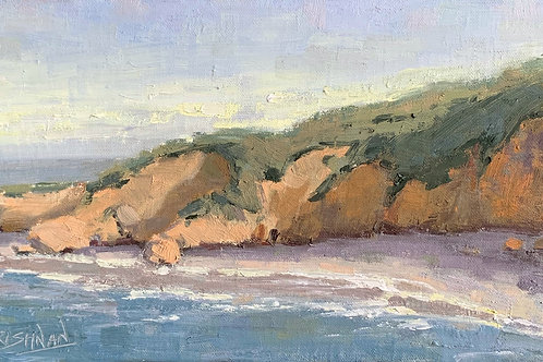 Afternoon at the Beach | 6x12, Oil on Linen