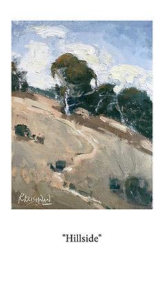 oil painting, ria krishnan fine art, california hills, the golden state, oak trees, hillside