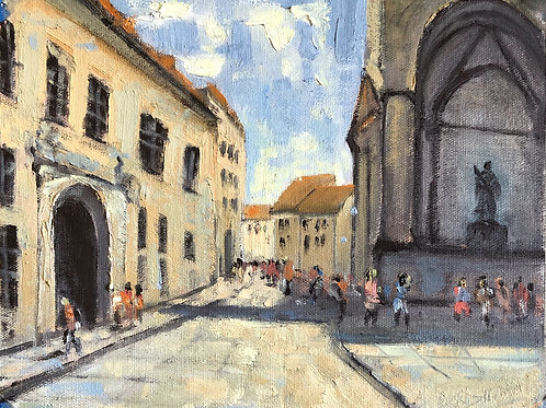 Old Town Square, Munich | 8x10, Oil on Canvas