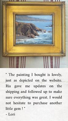 hwy-1, oil painting, carmel, santa cruz, vintage frame, home decor, beach home decor,