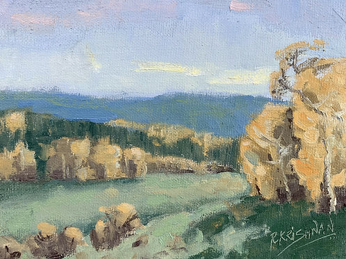 Gold in the Hills   6x8, Oil on Canvas