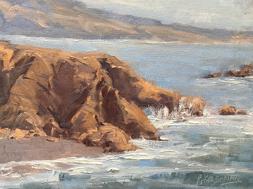 Pacific Surf | 8x10, Oil on Canvas