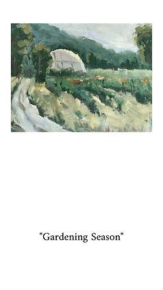 Greenhouse garden at Hidden Villa farm in Los Altos, CA. Original oil painting.