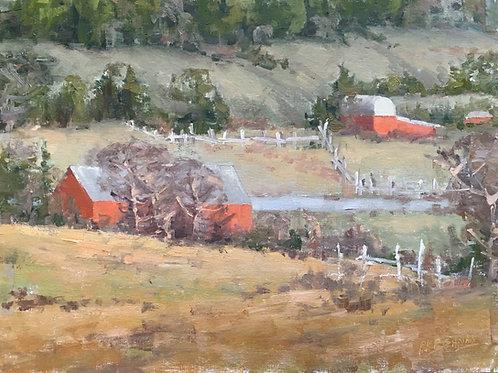 Farm Hills | 12x16, Oil on Canvas