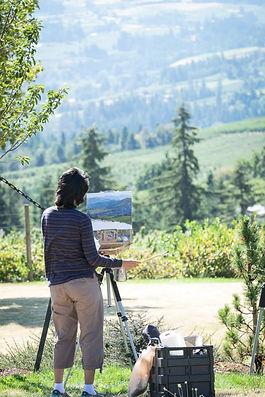 ria krishnan fine art, plein air, oil painting, hood river, artist