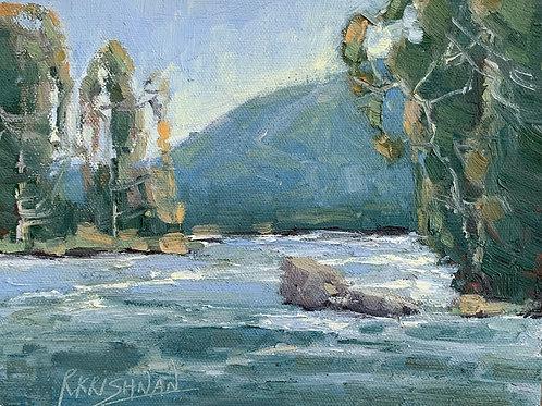 Yosemite Cascades | 6x8, Oil on Canvas