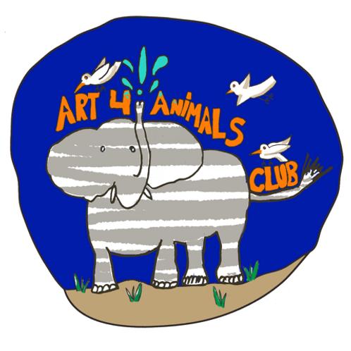 Art 4 Animals Logo Sticker