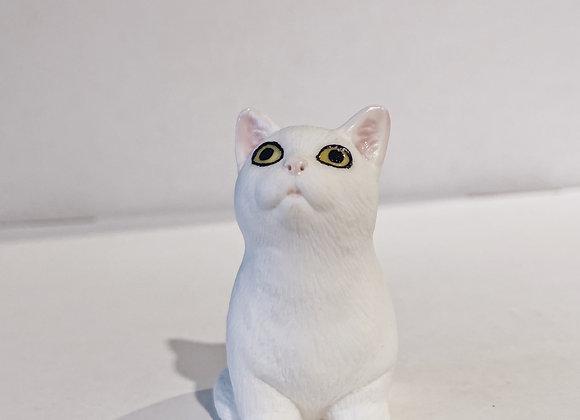 """Чайная фигурка """"Белый Кот"""""""