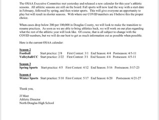 Athletic Program Update 12-8-20