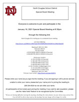 Special Board Meeting Link January 19, 2021