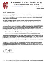 Letter to our Staff, Students, and Families
