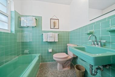 Renovated retro bathroom