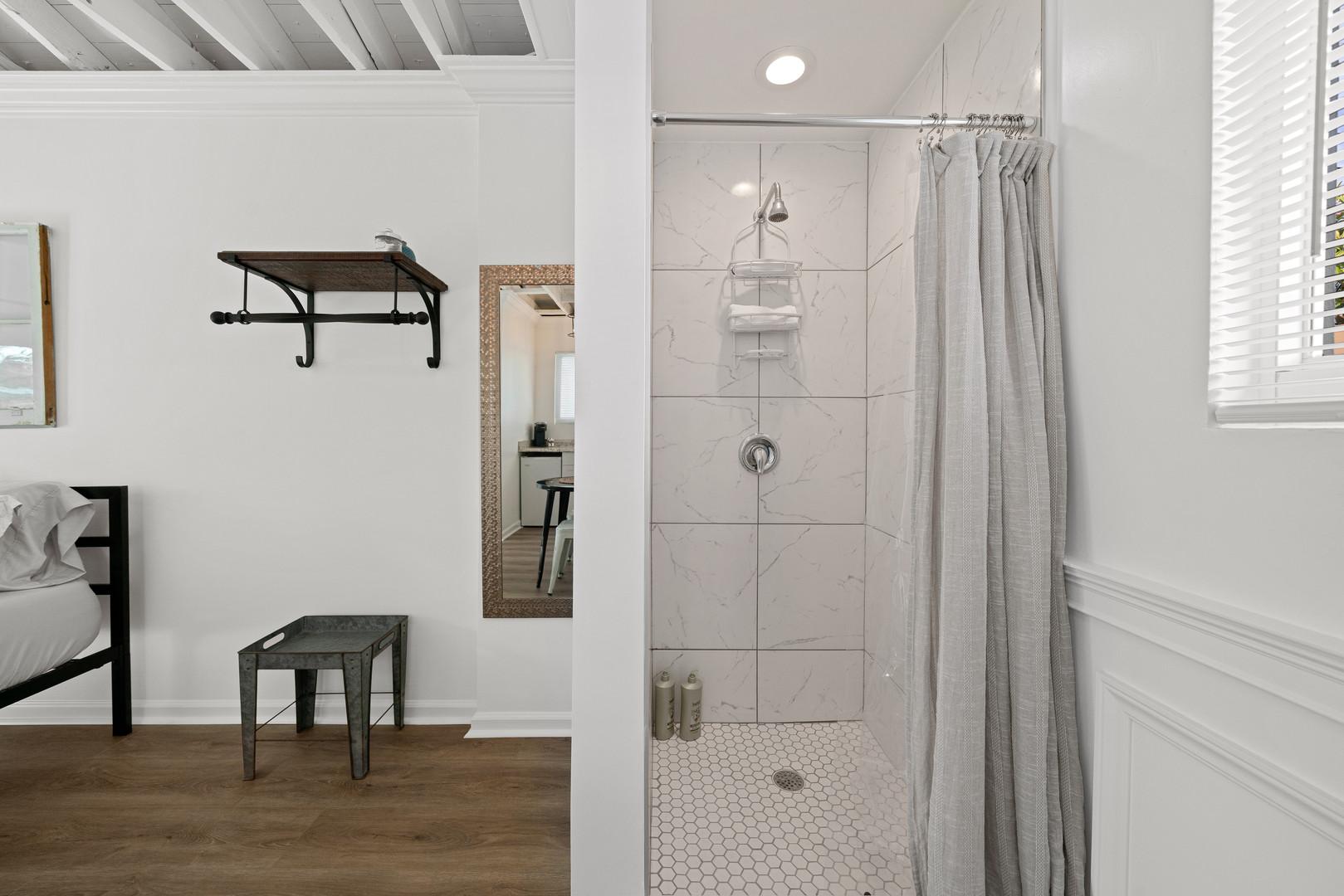 Brightly lit shower