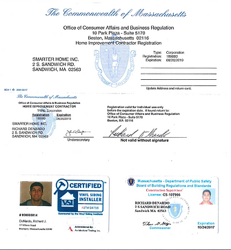 Smarter Home Inc Richard DeNardo certificaton