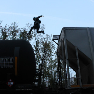 Train yard run with Marty