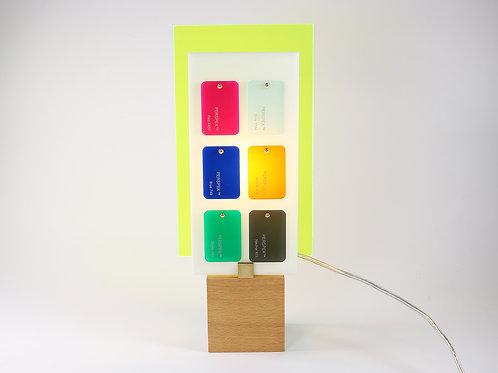 Lampe Plexiglass jaune
