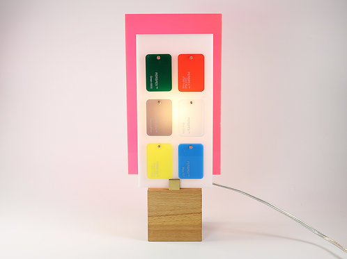 Lampe Plexiglass rose