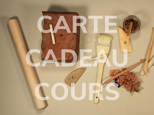 CARTE CADEAU - COURS