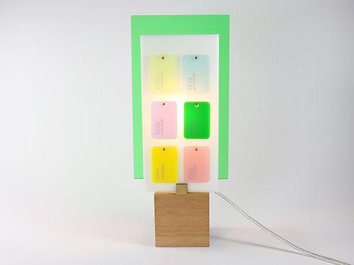 Lampe Plexiglass verte