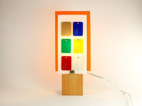 Lampe Plexiglass orange