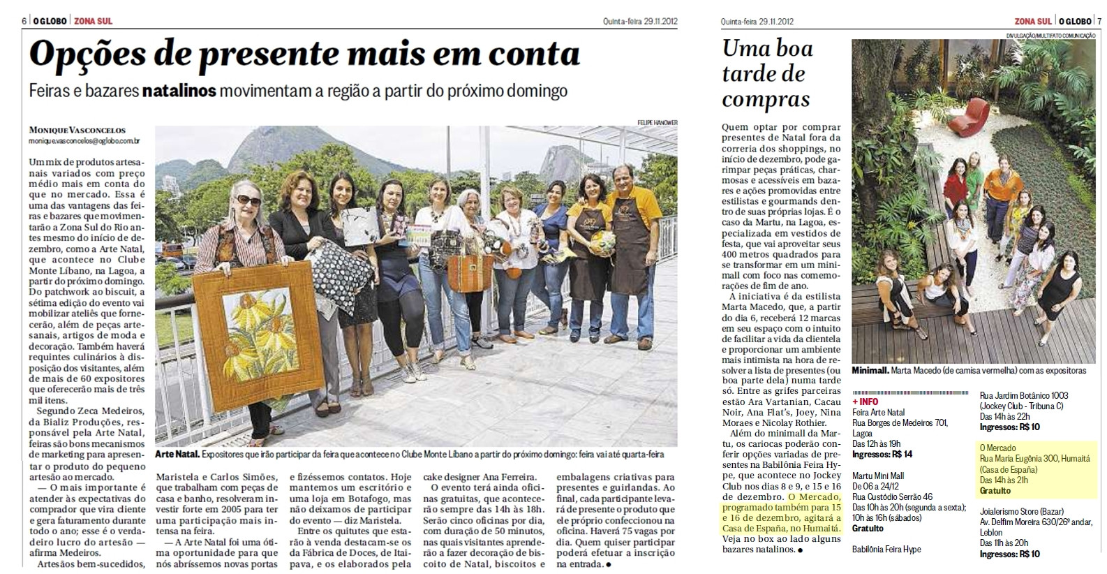 o globo - caderno zona sul - 29-11-2012.