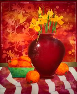 Irises and Oranges